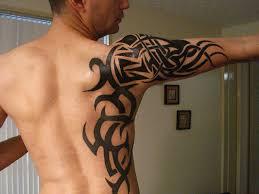 Shoulder Blade Tribal Tattoo