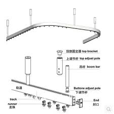 Cubicle Curtain Track Manufacturers by Curtain Bendable Rail System Hospital Separate Beauty Salons