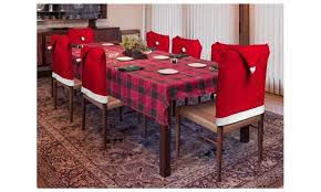 Holiday Santa Hat Christmas Dining Room Chair Covers 24