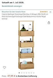 badregal bambus standregal holz badezimmer organizer