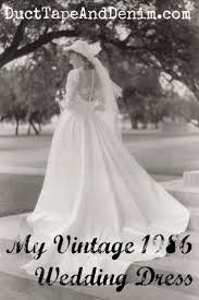 My Vintage 1986 Wedding Dress I Designed And Made This Myself