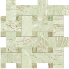Af Fitzgerald Tile Woburn Ma by Novabell Imperial Crema Polished Honed Basketweave Mosaic Marble