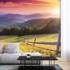 details zu vlies fototapete wald tapeten wandtapete schlafzimmer wohnzimmer berge natur