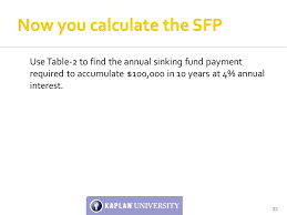 Sinking Fund Factor Calculator by Unit 7 Seminar Annuities Prof Otis D Jackson Ppt Download