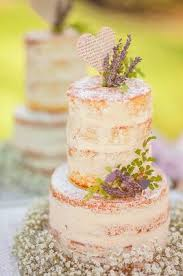 This Is The Perfect Rustic Almost Naked Cake For Our Lavender Wedding