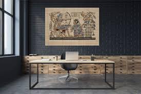 antik ägypten papyrus leinwand canvas bild wandbild