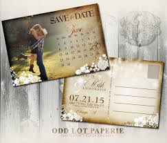 Printable Rustic Save The Date Postcard