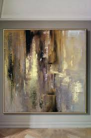 best 12 gold leaf abstract black and white acrylic original