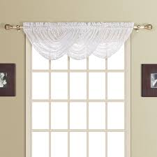 Cheap Waterfall Valance Curtains by Rivington Faux Silk Waterfall Valance With Beaded Trim Walmart Com