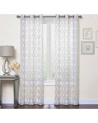 amazing deal on callahan embroidered 84 grommet top sheer window