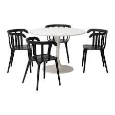 docksta ikea ps 2012 tisch und 4 stuhl weiß schwarz 105