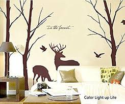 cukudy deer wall decals nature brown wall decals birch