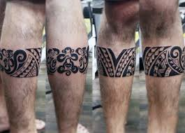 Traditional Leg Band Hawaiian Tribal Mens Tattoo Ideas