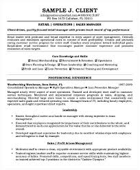 Retail Operations Manager Resume Templates Sales Managers Resumes