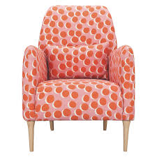 DABORN Pink And Orange Spotty Fabric Armchair | Maggie's Room ... Having A Moment For Pink Blanc Affair Sweet Pink Armchairs Architecture Interior Design Pair Of Lvet By Guy Besnard 1960s Market Kubrick Fauteuil Met Vleugelde Rugleuning In Snoeproze Hot Armchair Modern Living Room Ideas Nytexas Armchairs For Cie 1962 Set 2 Lara Armchair Fern Grey Lotus Velvet Decorating And Interiors Large Patchwork Sage Floral Home Decor Midcentury Dusty 1950s Sale