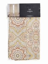 Tommy Hilfiger Curtains Mission Paisley by Tommy Hilfiger Diamond Lake Ivory Beige 2pc Window Curtain Panels