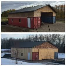 Our Shipping Container/Seacan Barn Alberta, Canada   Container ... Foundation Options For Fabric Buildings Alaska Structures Shipping Container Barn In Pictures Youtube Standalone Storage Versus Leanto Attached To A Barn Shop Or Baby Nursery Home With Basement Home Basement Container Workshop Ideas 12 Surprising Uses For Containers That Will Blow Your Making Out Of Shipping Containers Any Page 2 7 Great Storage Raising The Roof Tin Can Cabin Barns Northern Sheds Fort St John British Columbia Camouflaged Cedar Lattice Hidden