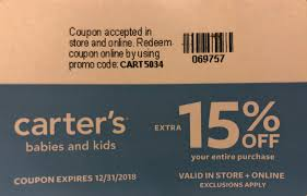 Extra 15% OFF Your Entire Purchase At Carters - Slickdeals.net Pinned November 6th 50 Off Everything 25 40 At Carters Coupons Shopping Deals Promo Codes January 20 Miele Discount Coupons Big Dee Tack Coupon Code Discount Craftsman Lighting For Incporate Com Moen Codes Free Shipping Child Of Mine Carters How To Find Use When Online Cdf Home Facebook Google Shutterfly Baby Promos By Couponat Android Smart Promo Philippines Superbiiz Reddit 2018 Lucas Oil