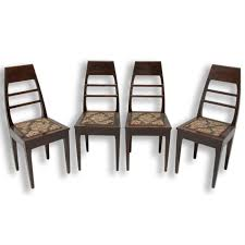 Antique Art Nouveau Oak Dining Chairs, Set Of 4   Vinterior Antique Vintage Art Nouveau Style Set Of 4 Carved Oak Ding Chairs Of Six French Louis Majorelle Caned Mahogany Unusual Victorian Walnut Wrought Iron Floral Lovely Important By Ernesto Basile For Ducrot 6 517550 Ding Chairs Art Nouveau Chair Set Sold Eight Period Tallback Stunning Inlaid High Back 2 Vinterior Fniture Antique Cupboards Tables