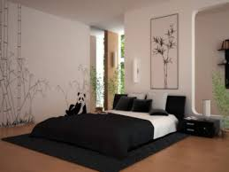 Bedroom Zen Ideas On A Budget Purple Painting Wall With White Horse Green Solid