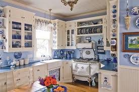 Blue Kitchen Decor And White