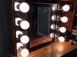 lights wall mount makeup mirror and lights with light bulbs