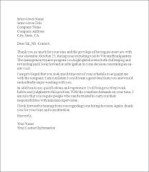 Thank You Letter Sample Thank You Letter After Job Interview Letter