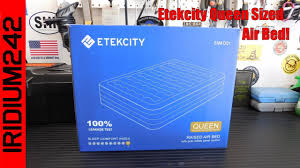Serta Air Mattress With Headboard by Etekcity Queen Sized Air Bed Youtube