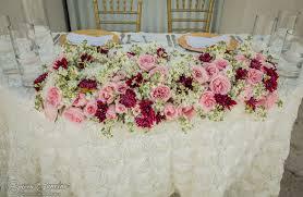 Stylish Beach Palace Wedding Blush Pink Theme Sweetheart Table Decorations