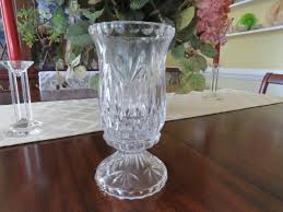 100 Poland Glass Avitra Hand Cut Lead Crystal Hurricane Style Candle Holder