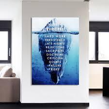 1PCS Framed Success Canvas Prints
