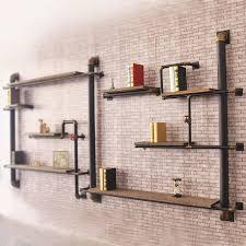 wall shelves design modern wooden wall shelves with brackets