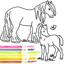 Horse And Foal Coloring Book Horse And Foal Horse And Foal