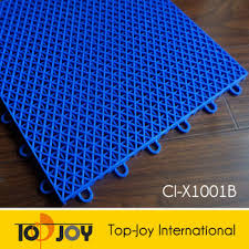 pp grid sport outdoor interlocking plastic floor tiles buy