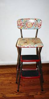 Cosco Counter Chair Step Stool by Stools Cosco Step Stool Chair Redo Old Fashioned Kitchen Step