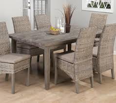 Burnt Grey Coastal Rectangle Leg Table