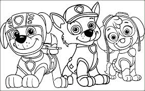 Colouring Pages Paw Patrol Free Printable Coloring Rocky Color