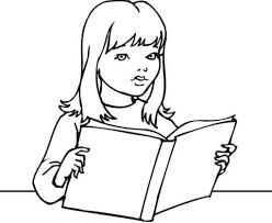 Click To See Printable Version Of A Girl Reading Book Coloring Page