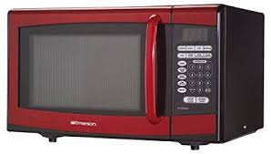 900 Watt Touch Control Red Microwave