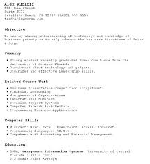 Resume Outline For Students Examples With No Work Experience