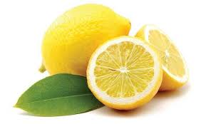 Bright Yellow Color White And Green Colors Of Lemons