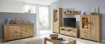 wohnwand wohnzimmer set alteiche holz design 4 teilig led beleuchtung