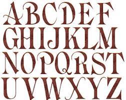 Alphabet Clip Art Old English Clipart Deep Copper Metal
