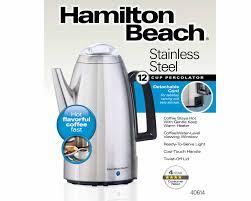 Hamilton Beach 12 Cup Percolator