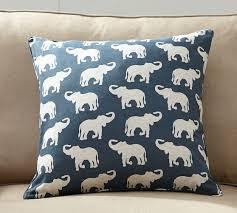 elephant print pillow cover pottery barn