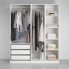 Ikea Small Bedroom Ideas by Open Wardrobe Ikea Small White Wardrobes U0026 Storage Hacks