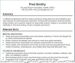 Technical Proficiency Resume Examples Of Resumes Information Technology No Experience
