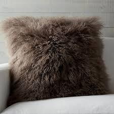 Mongolian Brown Fur Pillow