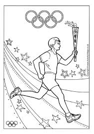 Encourage The Kids To Get Excited About Olympics With Our Fun Torch Relay Colouring Page