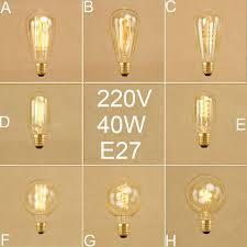 vintage 40w e27 incandescent edison light bulb retro st64 t45 g80